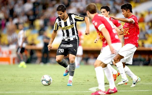 Henrique Botafogo jogo Union Española Libertadores (Foto: Satiro Sodre / SSPress)