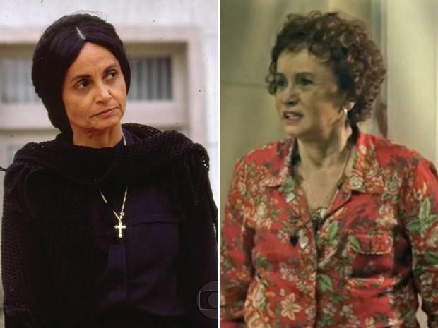 Joana Fomm como Perpétua e em episódio de As Cariocas (Foto: CEDOC / As Cariocas / TV Globo)