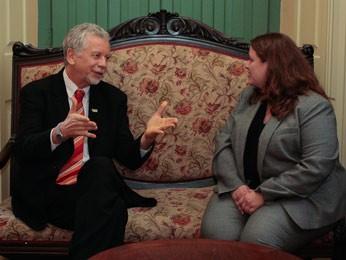 Fortunati se reuniu com gestora do Consulado Geral dos EUA em São Paulo (Foto: Luciano Lanes / PMPA)