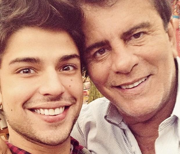 Diego Montez e o pai, Wagner Montes (Foto: Arquivo pessoal)