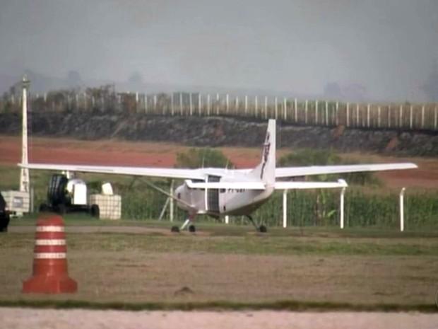 Centro Nacional de Paraquedismo em Boituva (Foto: Reprodução/TV TEM)