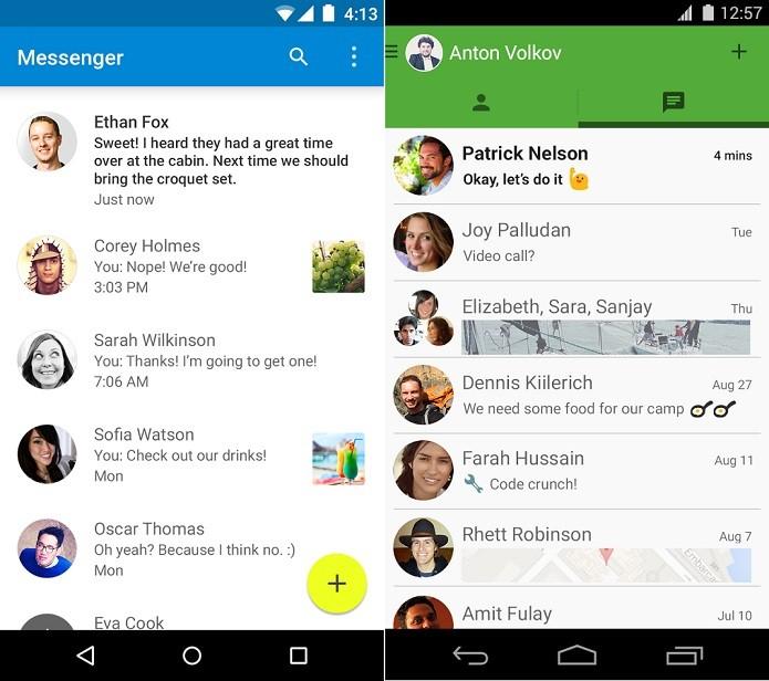 Messenger e Hangouts até se parecem um pouco, mas têm funções diferentes (Foto: Divulgação)