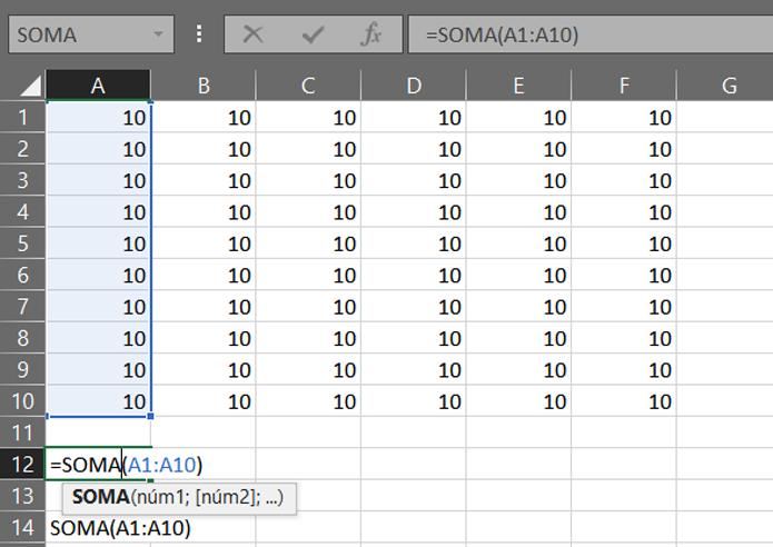 O sinal de igual é obrigatório antes de qualquer fórmula do Excel (Foto: Reprodução/Filipe Garrett)
