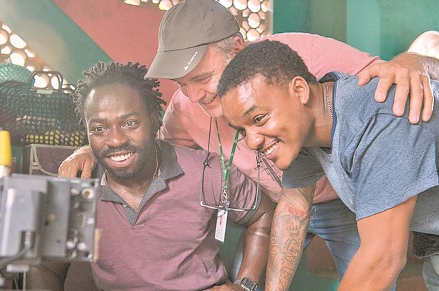 Douglas Silva e Darlan Cunha com Christian Duurvoort (Foto: Mauricio Fidalgo/ TV Globo)
