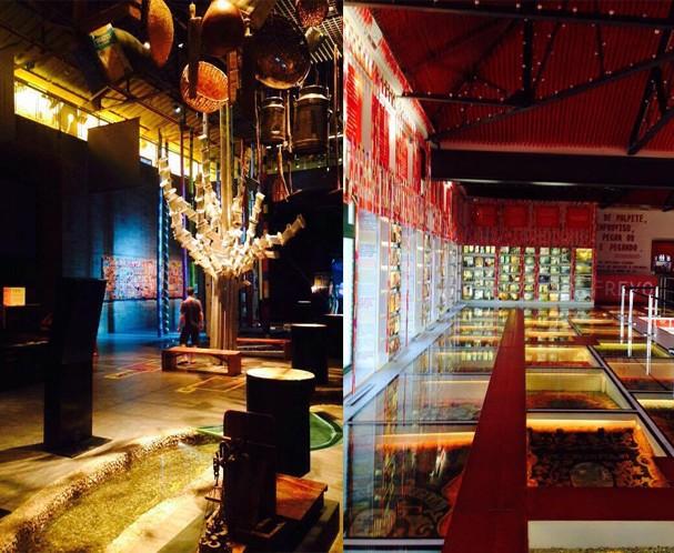 À esq., o tecnológico Museu do Cais do Sertão; e à dir,  o Paço do Frevo, em Recife (Foto: João Augusto Anfe)