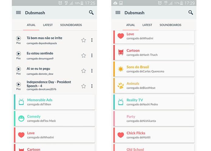 App Dubsmash permite fazer dublagens engraçadas (Foto: Reprodução/Barbara Mannara)