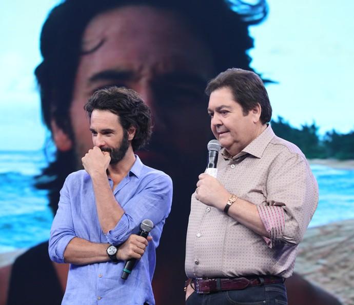 O ator revê participações antigas no 'Domingão' (Foto: Carol Caminha/Gshow)
