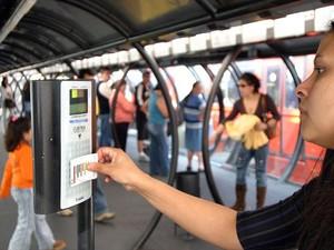 Micro-ônibus aceitarão apenas cartã transporte a partir de 1º de abril (Foto: Cesar Brustolin/SMCS/ Divulgação)