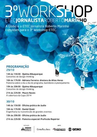 3º workshop ETEC será realizado nos dias 29 e 30 de outubro (Foto: Divulgação)