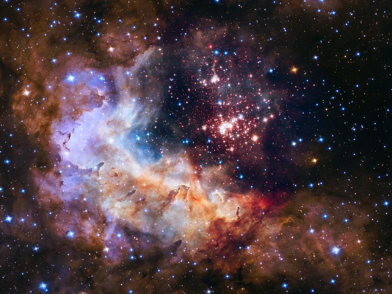 25 anos do Telescópio Espacial Hubble: Um berçário de estrelas na Constelação Carina, a 20 mil anos luz de distância da Terra