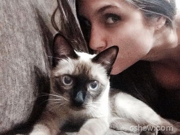Coleguinha Carla e sua gatinha Mia (Foto: Caldeirão do Huck/TV Globo)