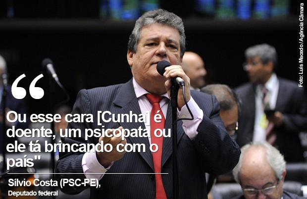 Card do deputado Silvio Costa (Foto: Luis Macedo / Câmara dos Deputados)