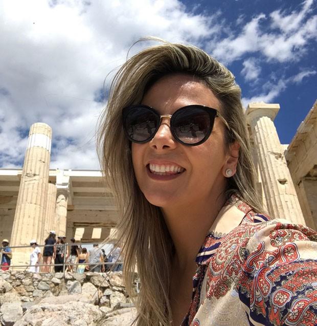 Carla Perez: sorriso de felicidade em viagem à Grécia (Foto: Reprodução Instagram)