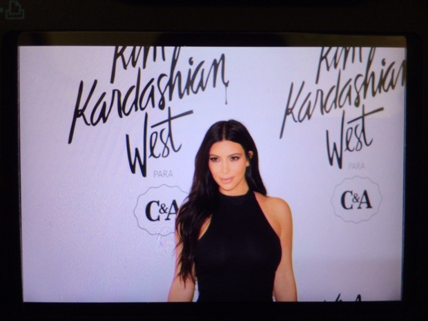 Kim Kardashian em So Paulo para o lanamento de coleo (Foto: Felipe Costa)