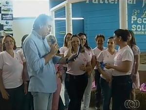 Leilão Pecuária Solidária arrecada mais de R$ 400 mil (Foto: Reprodução/TV Anhanguera)