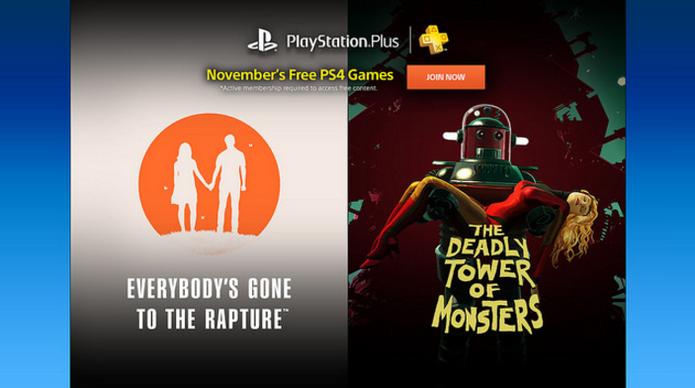 Games de PS4 para a PS Plus de novembro (Foto: Divulgação/Sony)