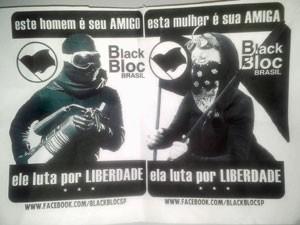 Panfleto distribuído durante manifestação em SP (Foto: Reprodução)