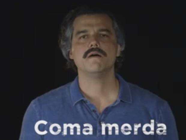 Wagner Moura em vídeo promocional de Narcos (Foto: reprodução/facebook)