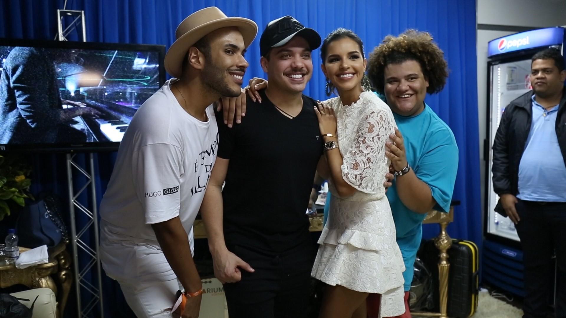 Safado faz sucesso entre os famosos no Villa Mix Goinia (Foto: Multishow)