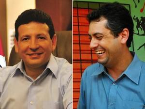 O prefeito Roberto Góes (PDT) e o candidato Clécio Luis (PSOL), que vão para o segunto turno em Macapá (Foto: Divulgação)