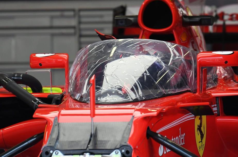 Confira as primeiras imagens do novo protetor de cabeça da F1, o