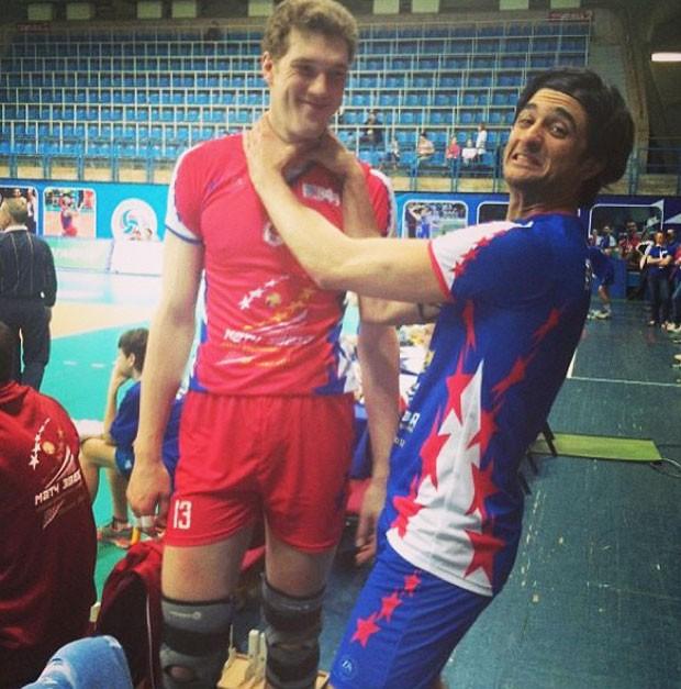 vôlei Leandro Vissotto Dmitriy Muserskiy Jogos das Estrelas Rússia (Foto: Reprodução)