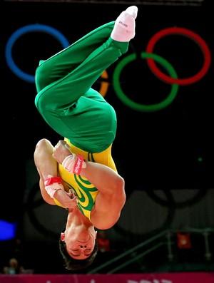 ginasta Sergio Sasaki na final da ginástica artística olimpíadas Londres 2012 (Foto: Getty Images)