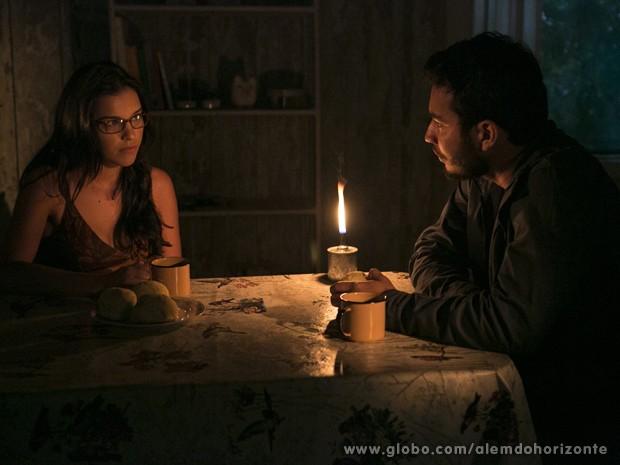 Depois do mal entendido, Celina conversa com Matias (Foto: Felipe Monteiro/TV Globo)