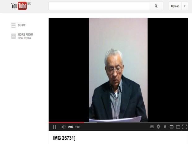 """Ex-secretário da Igreja Maranata lê """"carta de esclarecimento"""" em vídeo na internet (Foto: Reprodução/ YouTube)"""
