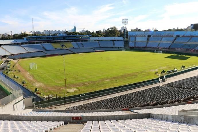 estádio centenário montevidéu uruguai (Foto: Lucas Rizzatti/GloboEsporte.com)
