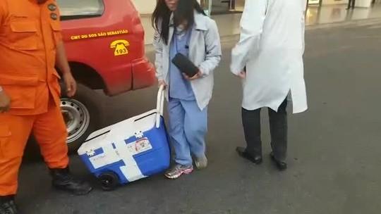DF recebe coração e fígado para transplante no Instituto de Cardiologia