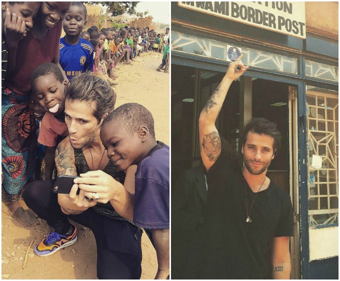 Bruno Gagliasso viaja à África com a prima e manda vídeo para Vídeo Show  (Foto e1170db059f