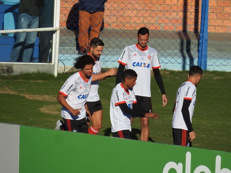 Willian Arão, em aquecimento na Ressacada, não foi bem (Foto: Fred Gomes/GloboEsporte.com)
