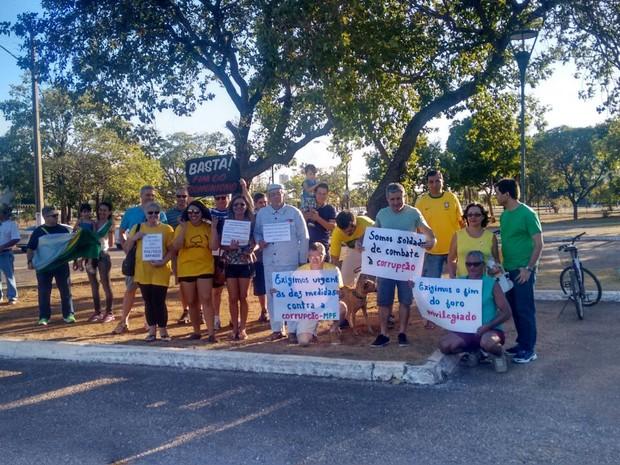 Protesto em Palmas (Foto: Lorena de Abreu/Arquivo Pessoal)