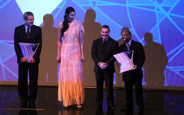Zé Roberto, Sheilla Castro e Arthur Zanetti Prêmio Brasil Olímpico (Foto: André Durão / Globoesporte.com)