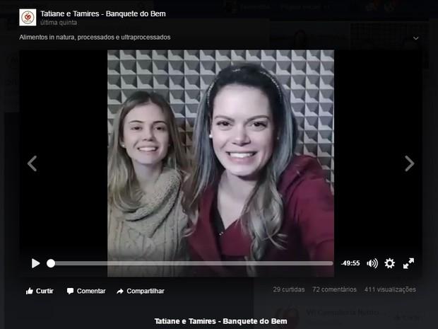 Irmãs gravam vídeos com receitas e dicas para internautas mudarem alimentação, Varginha (Foto: Reprodução/Facebook/Banquete do Bem)