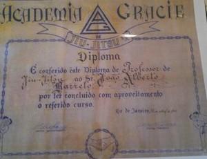 Diploma de graduação de João Alberto Barreto (Foto: Arquivo Pessoal)