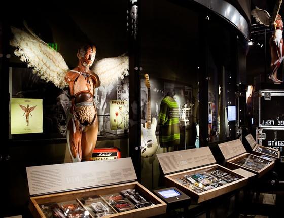 Um pouco da exposição sobre Nirvana que chega ao Rio:  (Foto: Reprodução)