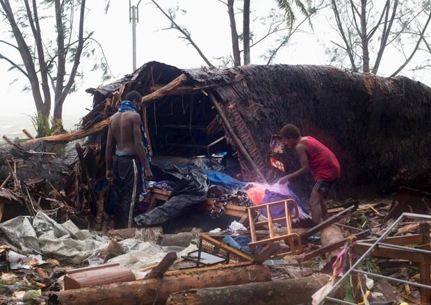 Passagem de ciclone por Vanuatu deixa mortos (Foto: Reuters/Unicef Pacific)