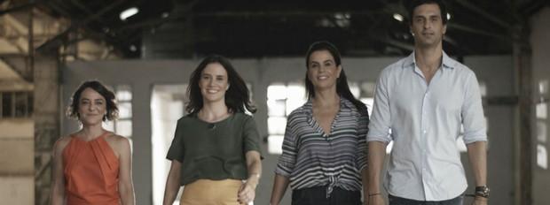 Olho mgico, 3 temporada, arquitetos, Renata Bartolomeu, Carolina Wambier e Leila Bittencourt e Alexandre Gedeon (Foto: Divulgao/GNT)
