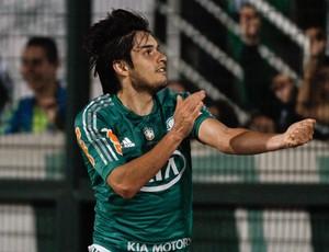Tiago Real gol Palmeiras (Foto: Rodrigo Coca / Ag. estado)