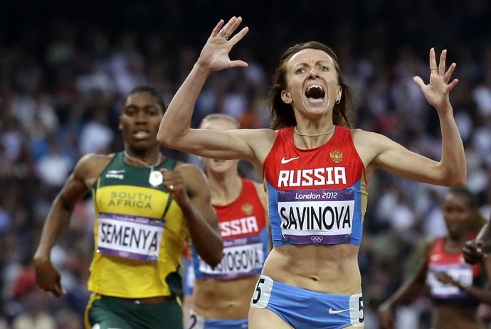 Mariya Savinova ouro Londres 2012 doping (Foto: Anja Niedringhaus/AP)