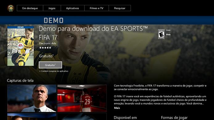 Baixe a demo do Fifa 17 na Live (Foto: Reprodução/Murilo Molina)
