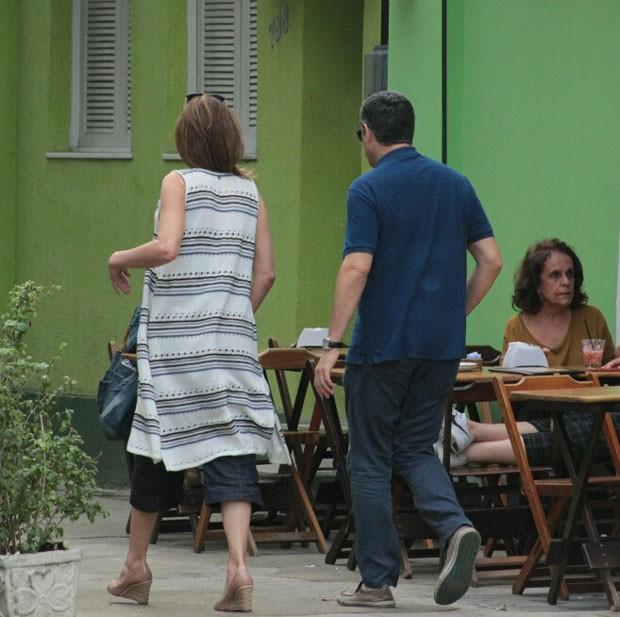 Bonner almoço no Horto, Zona Sul do Rio (Foto: AgNews)