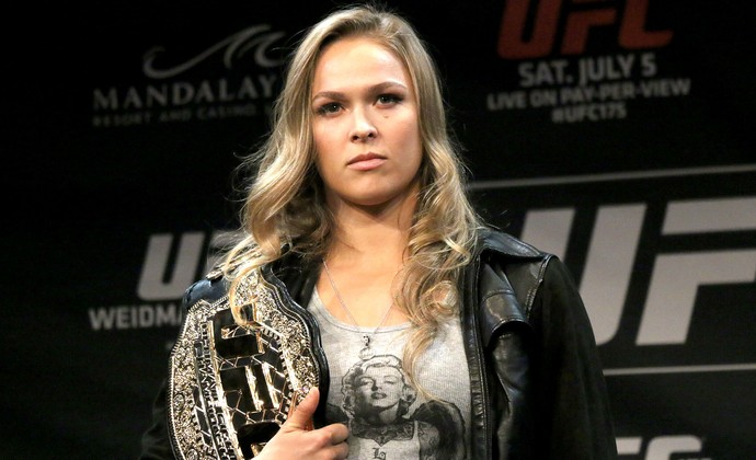 encarada UFC Ronda Rousey (Foto: Evelyn Rodrigues)