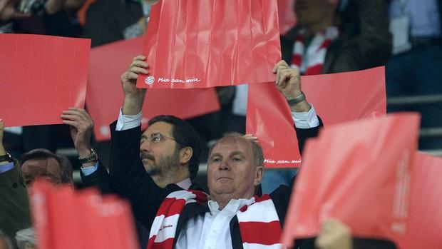 Uli Hoeness, Bayern de Munique x Barcelona (Foto: AFP)