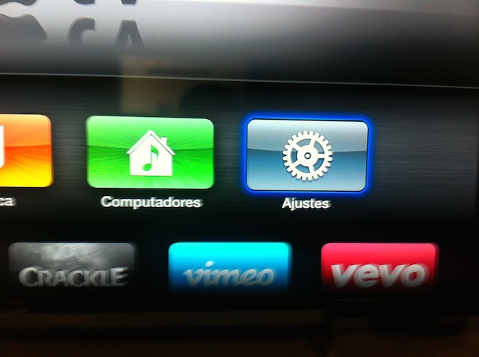 Acessando os ajustes da Apple TV (Foto: Reprodução/Marvin Costa)