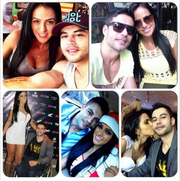 O casal em cliques juntos durante eventos dos quais a modelo participa (Foto: Reprodução/Instagram)