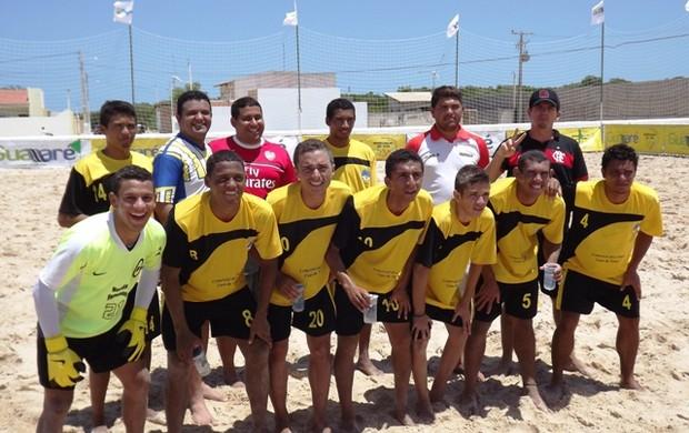Galinhos é campeã do Circuito RN de Beach Soccer (Foto: Divulgação)