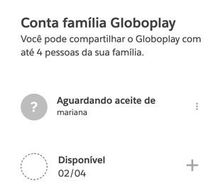 Adicionar convidado Globoplay (Foto: Globoplay)
